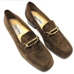 Womens Diane Von Furstenburg Brown Suede Loafers